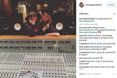 Spice Girls back in the studio