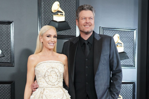 Gwen Stefani and Blake Shelton have a happy night with their family before the wedding