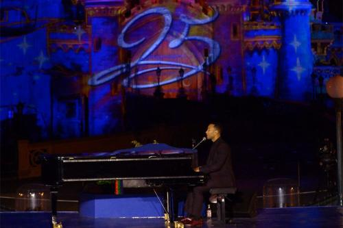John Legend performs at Disneyland Paris to mark 25th anniversary