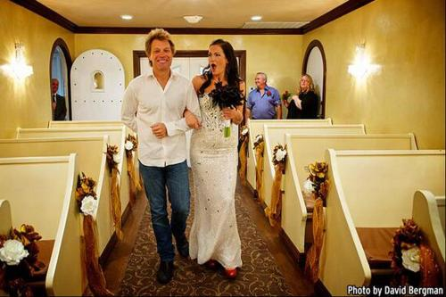 Jon Bon Jovi with bride Branka Delic