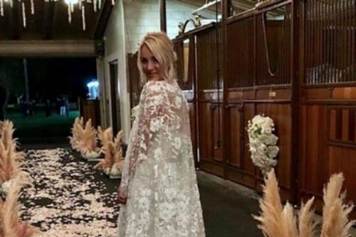 Floral Embroidered Wedding Dress