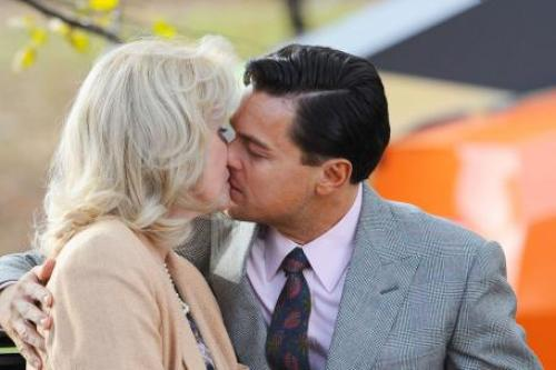Leonardo DiCaprio Took 27 Takes to Kiss Joanna Lumley