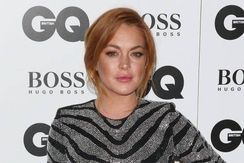 Lindsay Lohan Sat With A Table Of Men At GQ Awards
