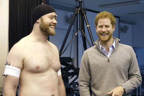 Prince Harry Meets Fan In Underwear