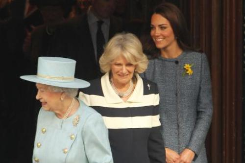 The Queen , Kate & Camilla On Royal Visit