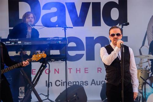 Ricky Gervais performs as alter ego David Brent in London