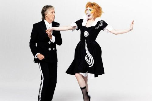 Sir Paul McCartney and Emma Stone