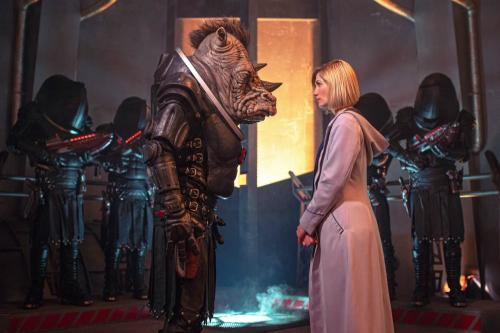 The Judoon and The Doctor in 'Doctor Who'