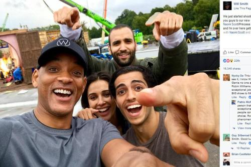 Will Smith confirms filming for Aladdin has started
