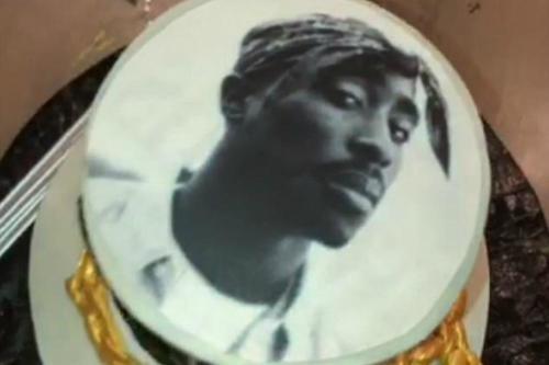 Zendaya S Tupac Birthday Cake