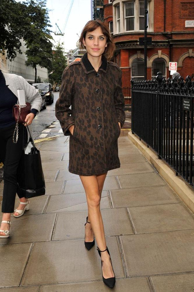Alexa Chung shows off her own London street style