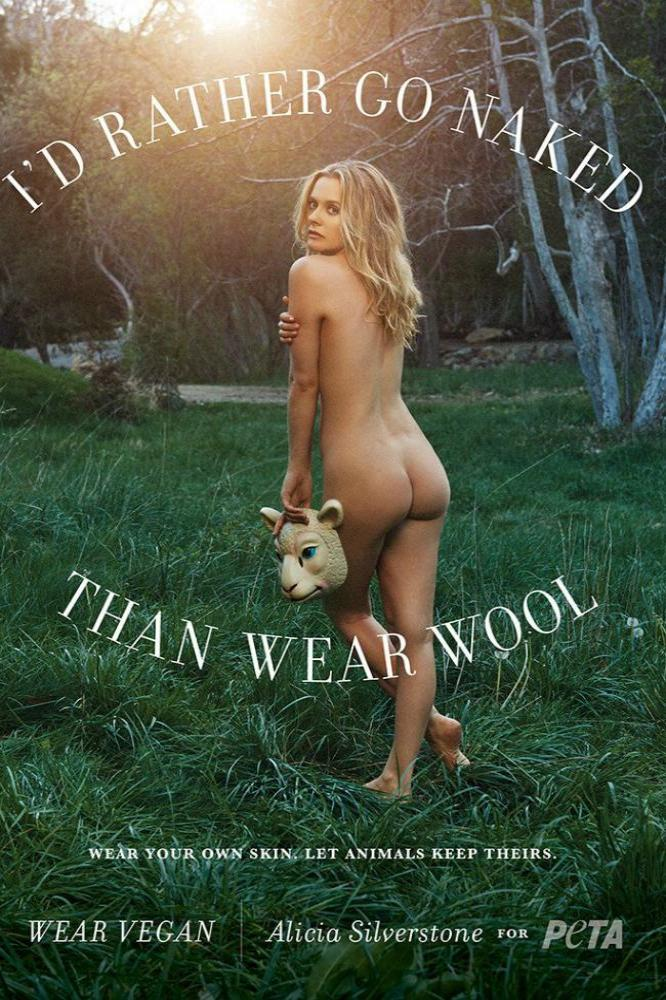 Alicia Silverstone's PETA advert