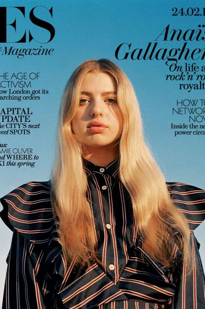 Anais Gallagher on ES Magazine cover