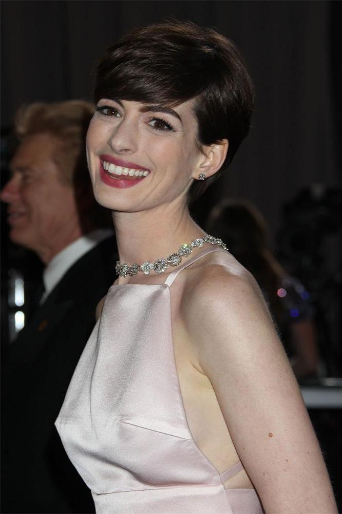 Anne Hathaway S Husband Thought Her Nipples Looked Pointy At Oscars 2013