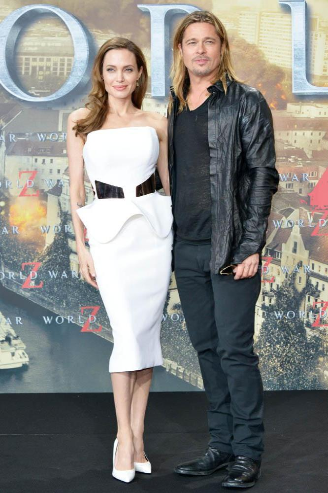 Brad Pitt and Angelina Jolie at Berlin premiere of World War Z