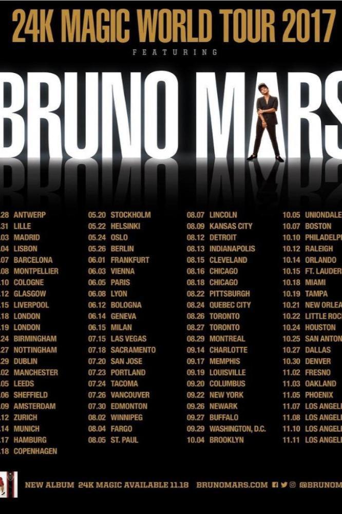 Bruno Mars Tour Houston 2020 Bruno Mars Tour 2017 Uk | Myvacationplan.org