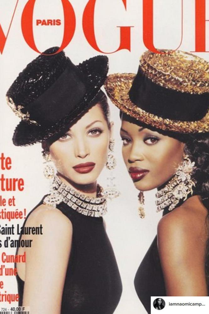 Christy Turlington and Naomi Campbell (c) Instagram
