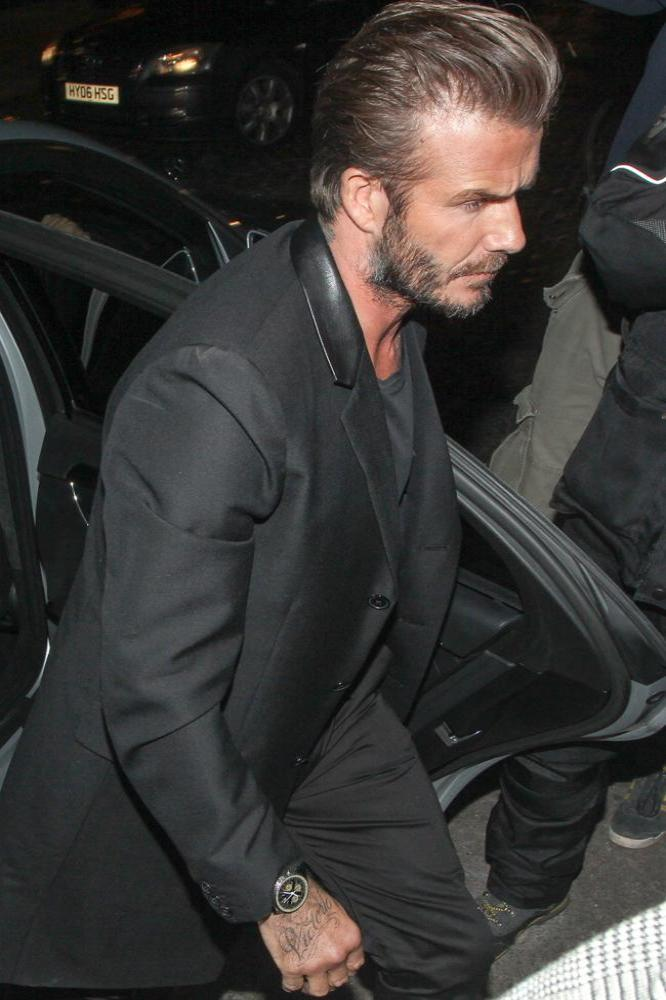 08ac6e7829 David Beckham mobbed at swimwear launch