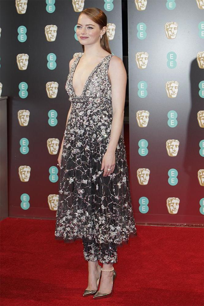 Emma Stone in Chanel at the 2017 BAFTA Awards