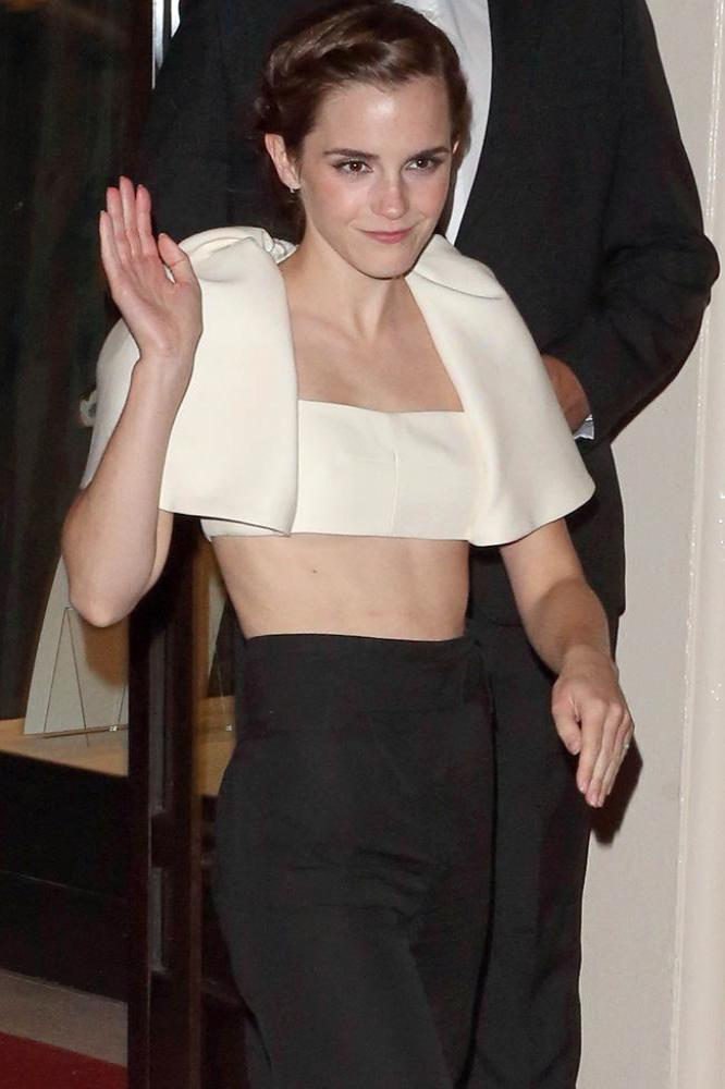 Watson nipple emma Celebrity bikinis: