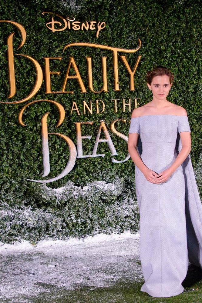Emma Watson at the 'Beauty and The Beast' London premiere