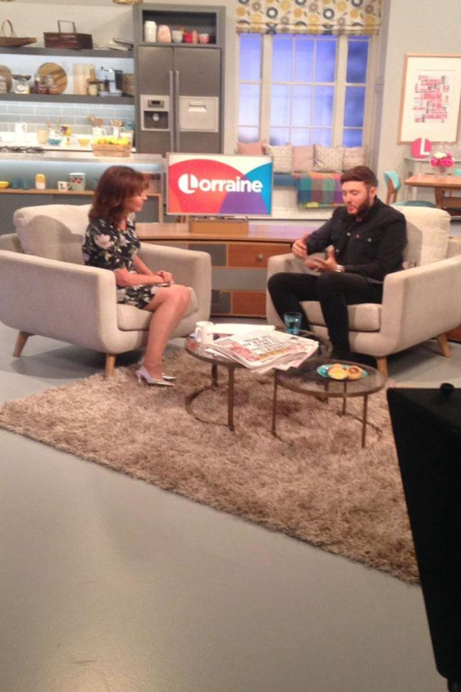 James Arthur on Lorraine