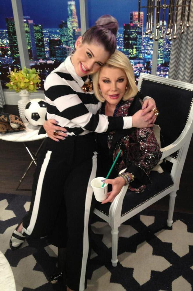 Kelly Osbourne and Joan Rivers reunite