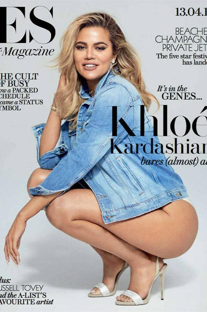 Khloe Kardashian on the cover of ES magazine