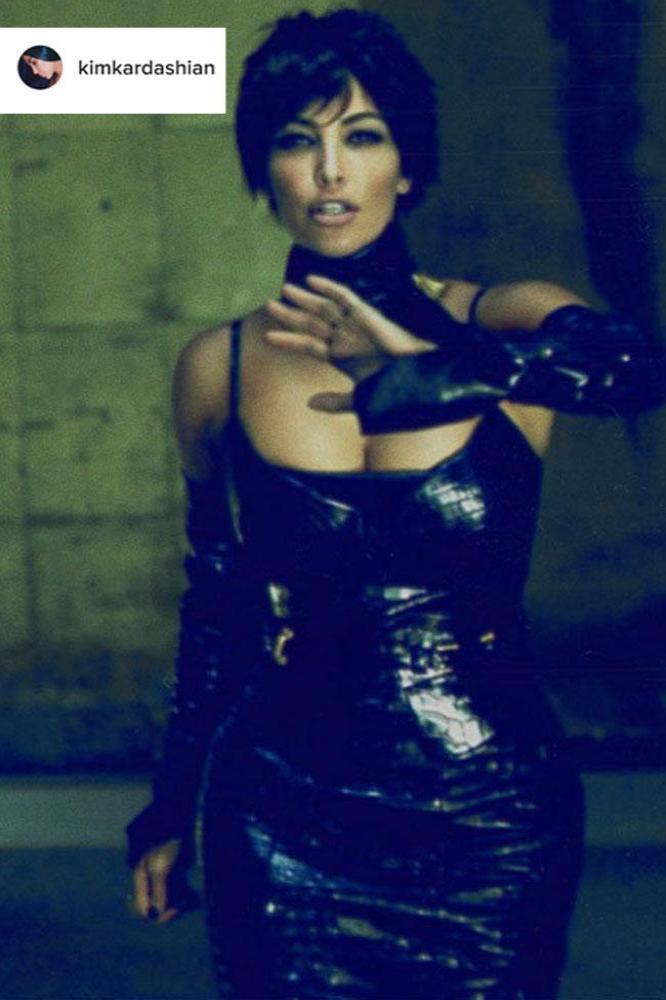 Kim Kardashian West Dresses Up As Kris Jenner