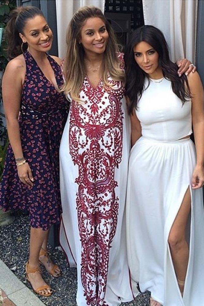 Ciara Keeps Cool In A Maxi Dress At Her Baby Shower