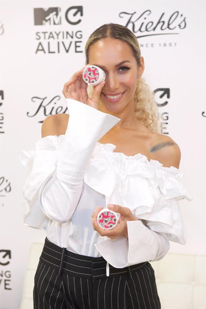 Leona Lewis at the MTV Staying Alive Foundation event in partnership with Kiehl's