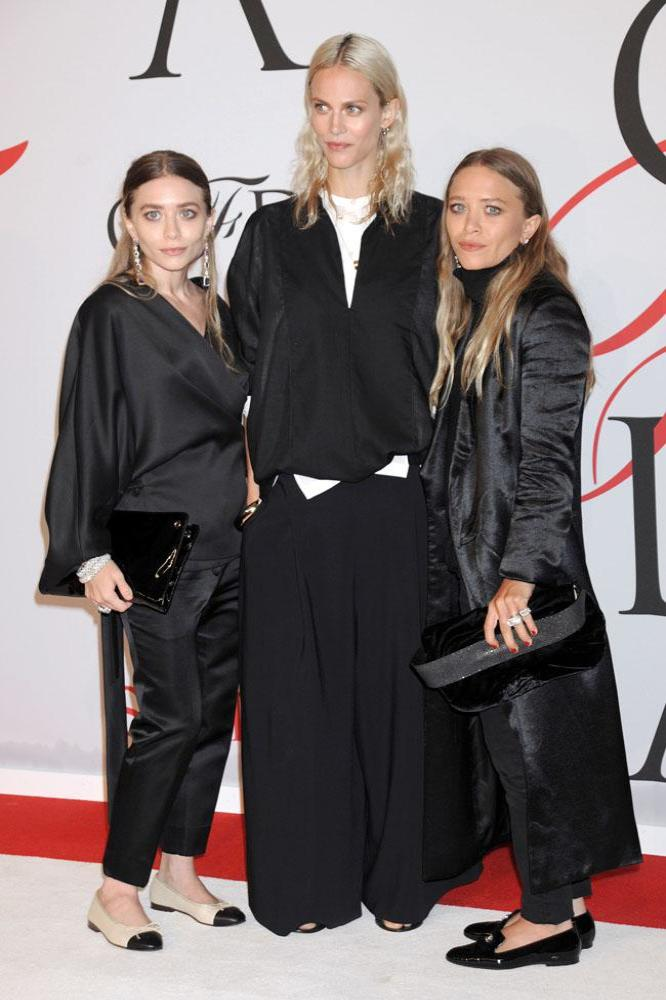Mary-Kate and Ashley Olsen with Aymeline Valade at the CFDA Fashion Awards