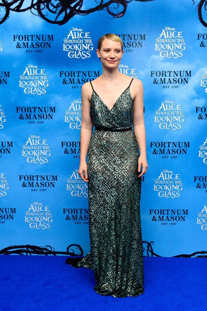 Mia Wasikowska at Alice Through the Looking Glass premiere