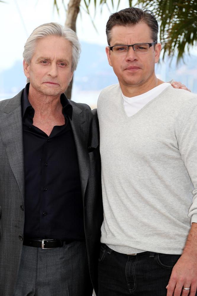 Matt Damon kiss was tender: Michael Douglas : Hollywood