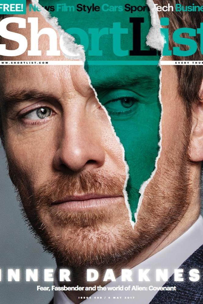 Michael Fassbender on Shortlist cover