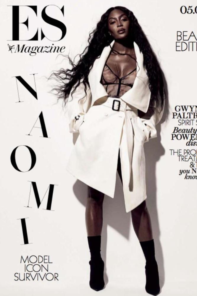 Naomi Campbell on the cover of ES magazine