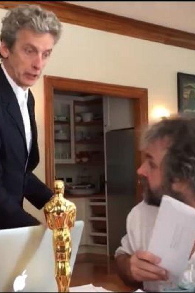 Peter Capaldi ambushes Peter Jackson and his daughter Katie in Doctor Who sketch