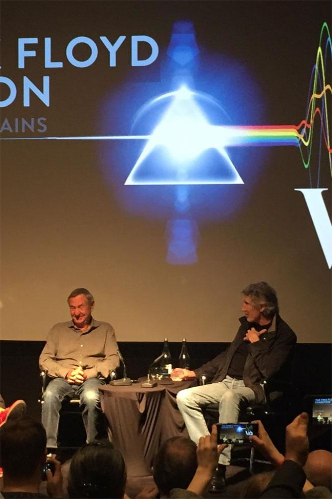 Roger waters and nick mason reunite to launch the pink for Pink floyd exhibition