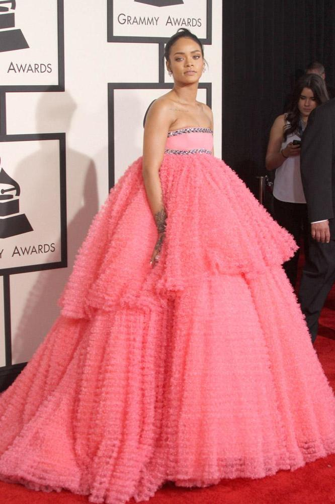 Rihanna \'Fell in Love\' With Grammys Dress