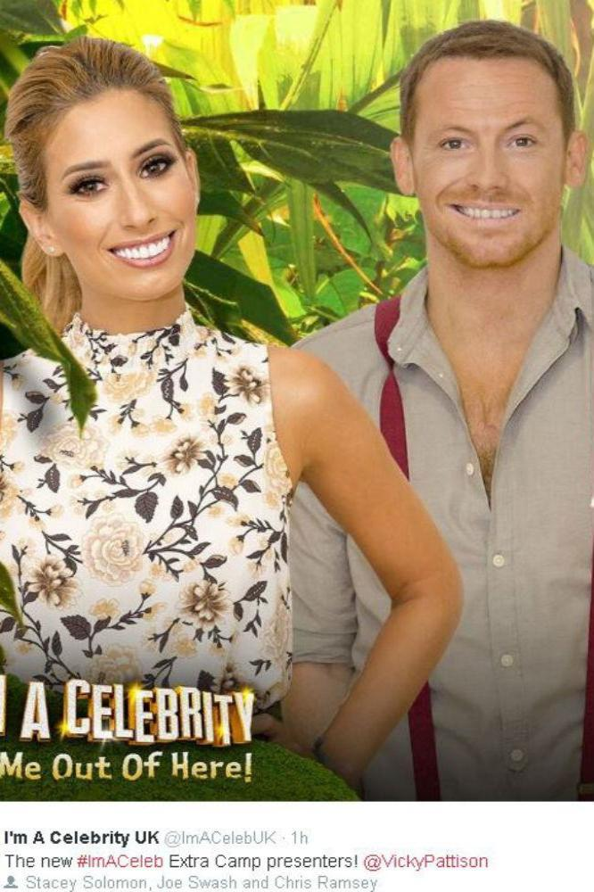 Stacey Solomon, Joe Swash and Vicky Pattison (c) Twitter