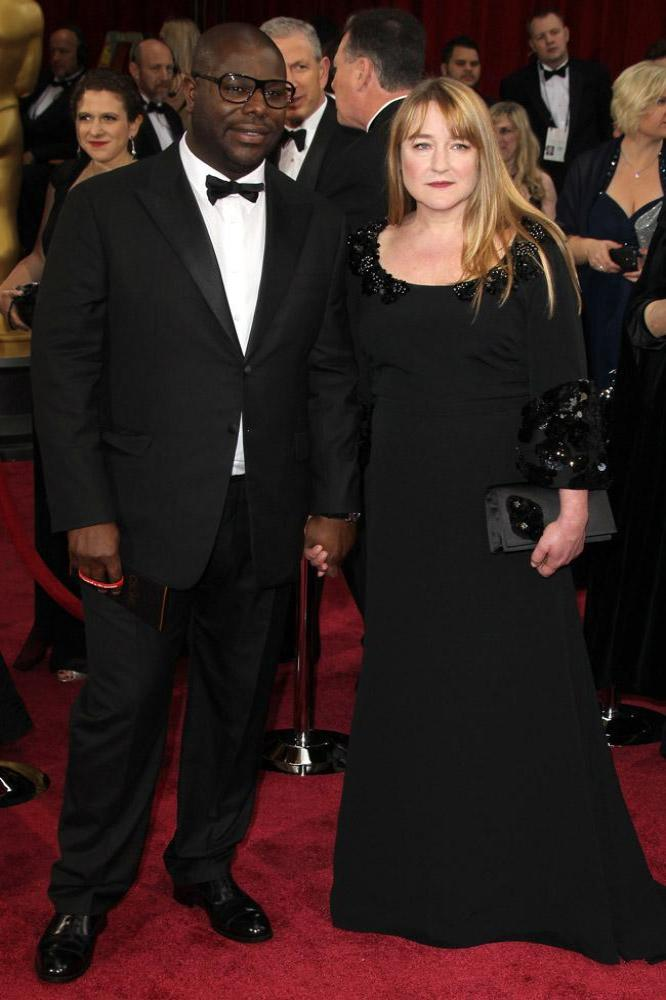 Steve McQueen and partner Bianca Stigter at the Oscars 2014