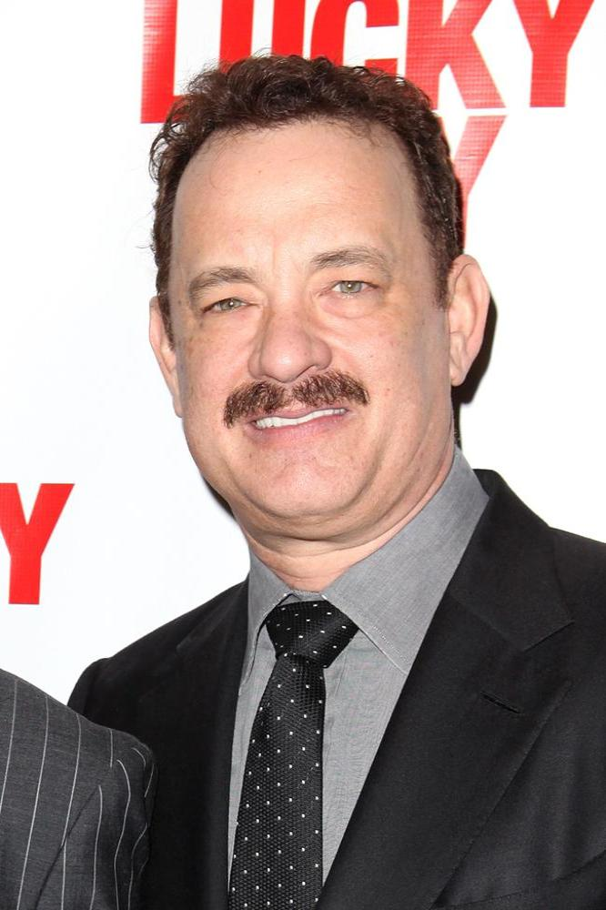 Tom Hanks at the opening of 'Lucky Guy'