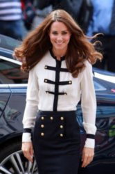 Duchess Catherine in Alexander McQueen