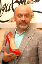 Christian Louboutin with his classic design