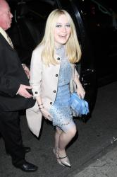 Dakota Fanning arriving for the show
