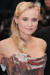 Diane Kruger working the metallic trend in Cannes