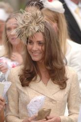 Duchess Catherine is a fan on fascinators