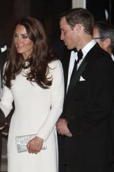 Duchess Catherine and Prince William at Claridge's Hotel