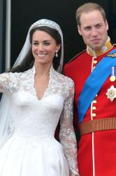 Duchess Catherine on her wedding day