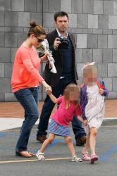 Jennifer Garner and Ben Affleck with daughters